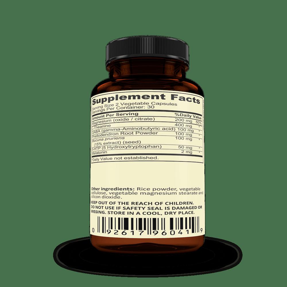 Nootrolux Pure Rest Supplement Facts