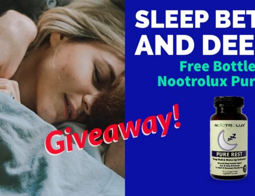 Enter to win a FREE Nootrolux Pure Rest + $100 worth of vouchers.